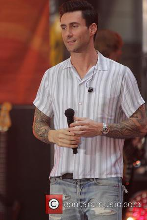 Adam Levine and Maroon 5 - Maroon 5 perform on the 'Today' show as part of their Toyota Concert Series...