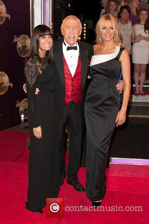 Claudia Winkleman, Bruce Forsyth and Tess Daly - 'Strictly Come Dancing 2014' launch at Elstree Studios - Arrivals - London,...