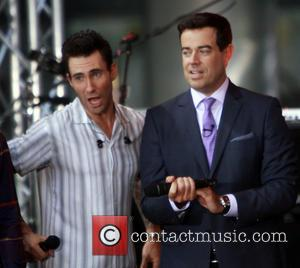 Carson Daly, Adam Levine and Maroon 5 - American band Maroon 5 who have had hits with songs such as...