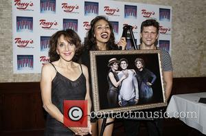 Andrea Martin, Ciara Renee and Kyle Dean Massey - Broadway's Pippin portrait unveiling at Tony's di Napoli Times Square restaurant....