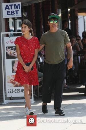 Anthony Kiedis and Helena Vestergaard - Red Hot Chili Peppers front man Anthony Kiedis photographed with his wife and Australian...