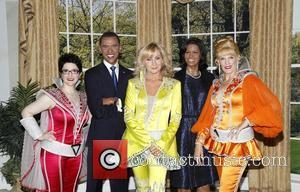 Lauren Cohn, Barack Obama Wax Figure, Judy Mclane, Michelle Obama Wax Figure and Stacia Fernandez