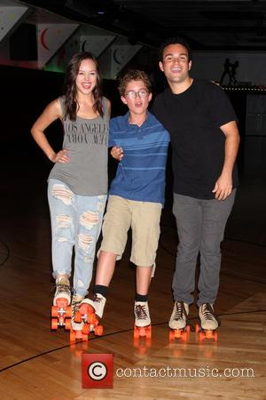 Hayley Orrantia, Sean Giambrone and Troy Gentile - 'The Goldbergs' Complete Season 1 DVD release press event - Glendale, California,...