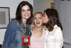 Betsy Brandt, Annaleigh Ashford and Lizzy Caplan - Backstage at  Broadway's You Can't Take It With You at the...