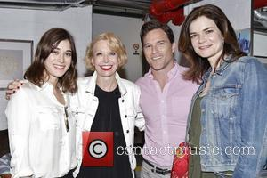 Lizzy Caplan, Julie Halston, Mike Doyle and Betsy Brandt - Backstage at  Broadway's You Can't Take It With You...