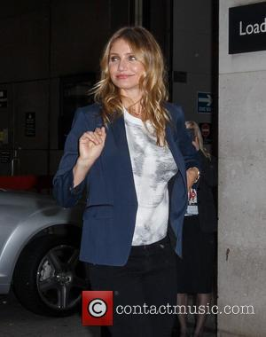 Cameron Diaz - Star of upcoming movie 'Sex Tape' Cameron Diaz seen arriving at the BBC Radio 1 studios wearing...