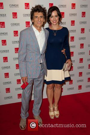 Ronnie Wood and Sally Wood - Red Woman of the Year 2014 ceremony in association with Clinique at the Ham...