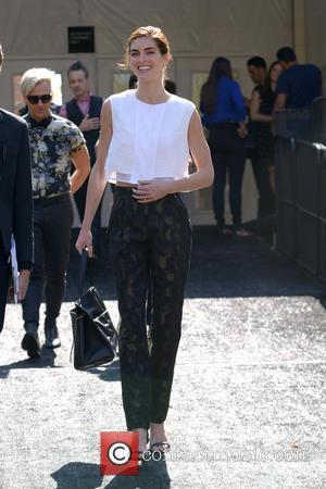 Hilary Rhoda - Mercedes-Benz Fashion Week Spring 2015 - Celebrity Sightings - Manhattan, New York, United States - Thursday 4th...
