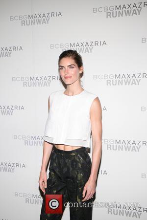 Hilary Rhoda - Mercedes-Benz New York Fashion Week - BCBGMAXAZRIA - Arrivals - New York, New York, United States -...