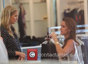 Nicky Hilton and Kyle Richards - Nicky Hilton films a promotional video inside Kyle boutique in Beverly Hills. - Los...