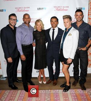 Rob Younkers, Shaun T, Kelly Ripa, Mark Consuelos, Theodore Leaf and John Gidding