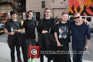 Alt-J - Ahead of film 'The Late Show with David Letterman', celebrates were photographed arriving at the Ed Sullivan Theatre,...