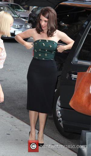 Tina Fey - Ahead of film 'The Late Show with David Letterman', celebrates were photographed arriving at the Ed Sullivan...