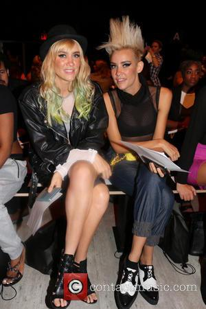 Liv Nervo and Mim Nervo - Various models were photographed in the front row seats at the Nicholas K showcase...