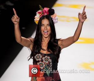 Adriana Lima - The Desigual Fashion show, taking place as part of the Mercedes-Benz Fashion Week for Spring 2015, saw...