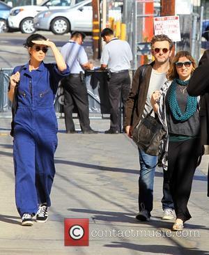 Sarah Silverman and Michael Sheen - Sarah Silverman and Michael Sheen arrive at the 'Jimmy Kimmel Live' studios in Hollywood...