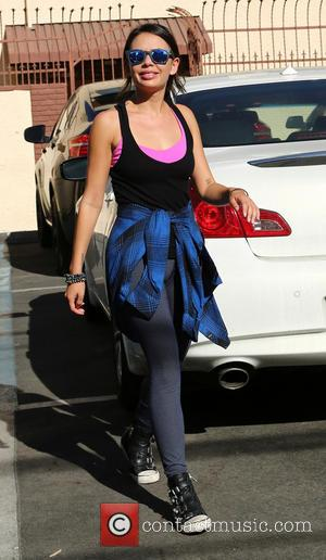 Janel Parrish - Contestants of season 19 of ABC's 'Dancing With the Stars' leave the rehearsal studios - Los Angeles,...