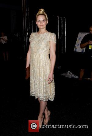 Jennifer Morrison - Mercedes-Benz New York Fashion Week Spring 2015 - Monique Lhuillier - Backstage - New York City, New...
