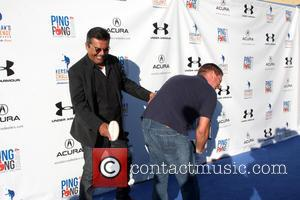 George Lopez - Clayton Kershaw hosts the Ping Pong 4 Purpose Charity Event at Dodger Stadium on September 4, 2014...