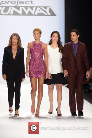 Nina Garcia, Heidi Klum, Emmy Rossum and Zac Posen - Mercedes-Benz Fashion Week Spring 2015 - 'Project Runway' - Runway...