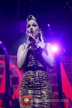 Imelda May - Irish singer/songwriter Imelda May was photographed while performing on the sixth day of the iTunes Festival in...