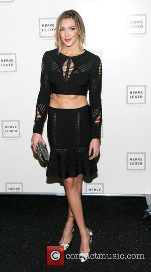 Katie Cassidy - Mercedes-Benz New York Fashion Week Spring 2015 - Herve Leger - Backstage - New York, United States...