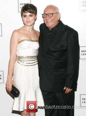 Sami Gayle and Max Azria - Mercedes-Benz New York Fashion Week Spring 2015 - Herve Leger - Backstage - New...