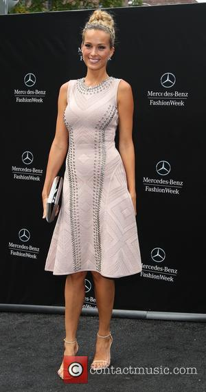 Petra Nemcova - Mercedes-Benz New York Fashion Week Spring 2015 - Herve Leger - Arrivals - New York, United States...