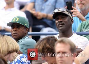 Ahmad Rashad and Michael Jordan