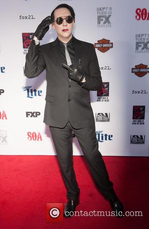 Marilyn Manson - Ahead of the premiere for FX's seventh and final series of 'Sons of Anarchy', the stars were...