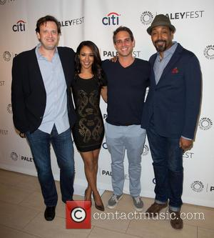 Andrew Kreisberg, Candice Patton, Greg Berlanti and Jesse L. Martin