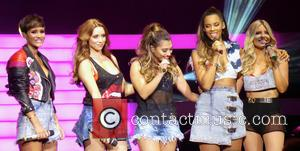 Una Foden, Rochelle Humes, Frankie Bridge, Frankie Sandford, Vanessa White and Mollie King - The Saturdays performing live in concert...