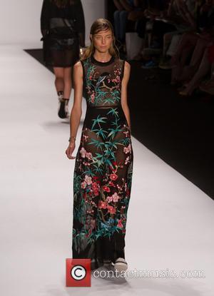 Model - Mercedes-Benz New York Fashion Week Spring 2015 - Vivienne Tam - Runway - New York City, New York,...