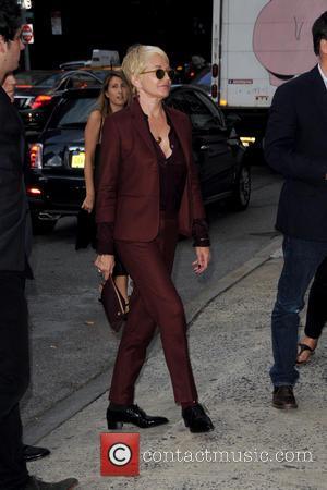 Ellen Barkin - Mercedes-Benz New York Fashion Week Spring 2015 - Opening Ceremony - Outside Arrivals - Manhattan, New York,...