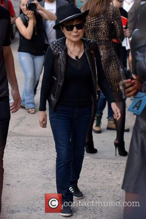 Yoko Ono - Mercedes-Benz New York Fashion Week Spring 2015 - Opening Ceremony - Outside Arrivals - Manhattan, New York,...