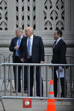 Donald Trump - Guests attend the Joan Rivers Memorial Service - Manhattan, New York, United States - Sunday 7th September...