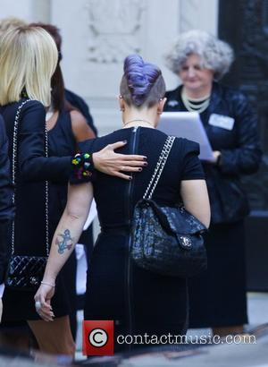 Giuliana Rancic and Kelly Osbourne - Joan Rivers Memorial Service at Emanu-El Temple in the Upper East side in New...