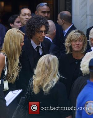 Howard Stern, Beth Ostrosky and Melania Trump - Joan Rivers Memorial Service at Emanu-El Temple in the Upper East side...