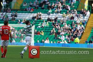 Louis Tomlinson and James McAvoy - MAESTRIO Charity Match at Celtic Park - Glasgow, United Kingdom - Sunday 7th September...