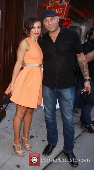 Randy Couture and Karina Smirnoff - This years stars turned out for the press conference for season 19 of ABC's...
