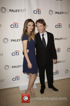 Nasim Pedrad and Martin Short