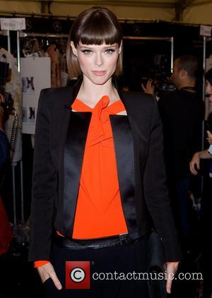 Coco Rocha - Mercedes-Benz New York Fashion Week Spring 2015 - Dennis Basso - Front Row - New York City,...