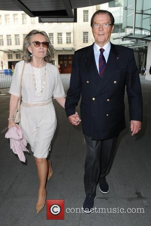 Roger Moore and Kristina Tholstrup