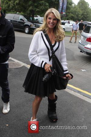 Christie Brinkley - Celebrities and Players at the Men's Final of the 2014 U.S. Open. Marin Cilic of Croatia won...
