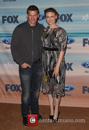 David Boreanaz and Emily Deschanel - 2014 FOX Fall Eco-Casino Party - Arrivals - Santa Monica, California, United States -...