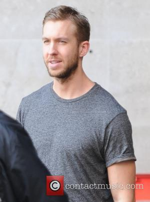 Calvin Harris - Various celebrities spotted outside the BBC Radio 1 on a sunny Autumn day in London, United Kingdom...
