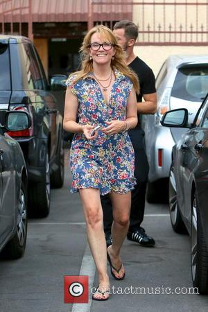 Lea Thompson - Lea Thompson and dance partner Artem Chigvintsev leaving a dance studio after rehearsals for 'Dancing With The...