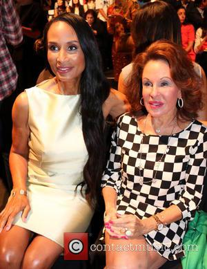 Beverly Johnson and Nikki Haskell - Mercedes-Benz New York Fashion Week Spring 2015 - Dennis Basso - Front Row -...
