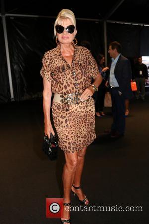 Ivana Trump - Mercedes-Benz New York Fashion Week Spring 2015 - Dennis Basso - Front Row - New York, New...