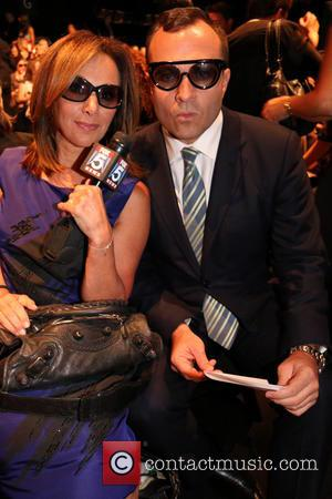Rosanna Scotto and Greg Kelly - Mercedes-Benz New York Fashion Week Spring 2015 - Dennis Basso - Front Row -...